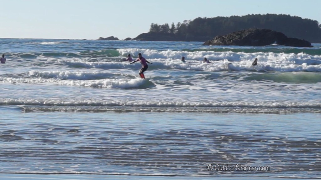 Winter surfing Tofino