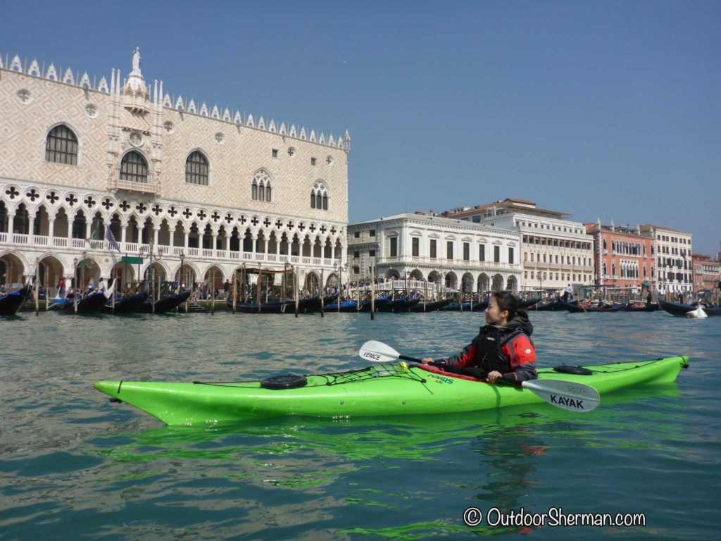 View of San Marco Square on Kayak