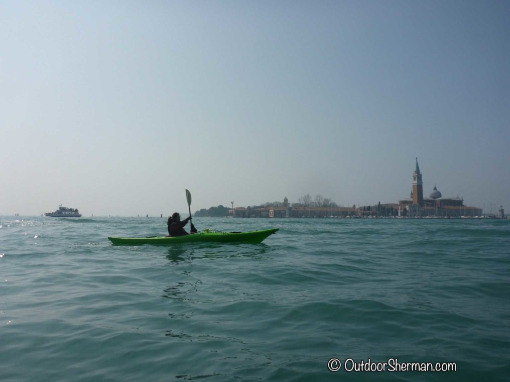 Sea kayaking in Venice