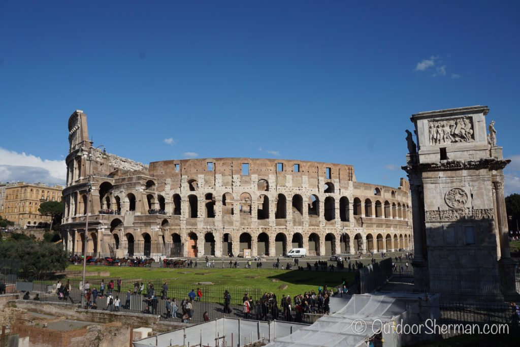 View of the whole Colosseum