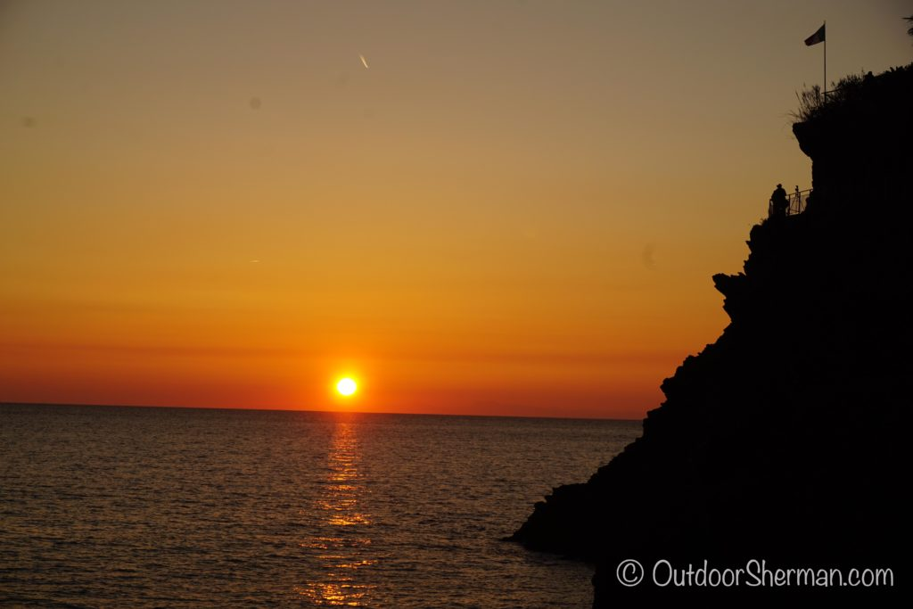 Watching the sunset in Manarola