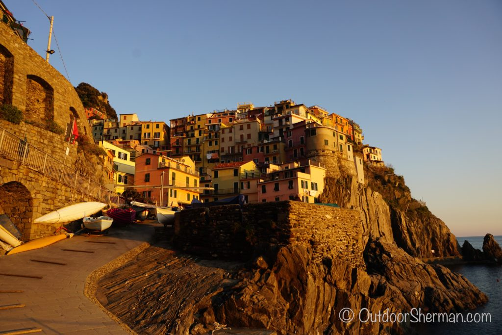 Sunset at Manarola waterfront