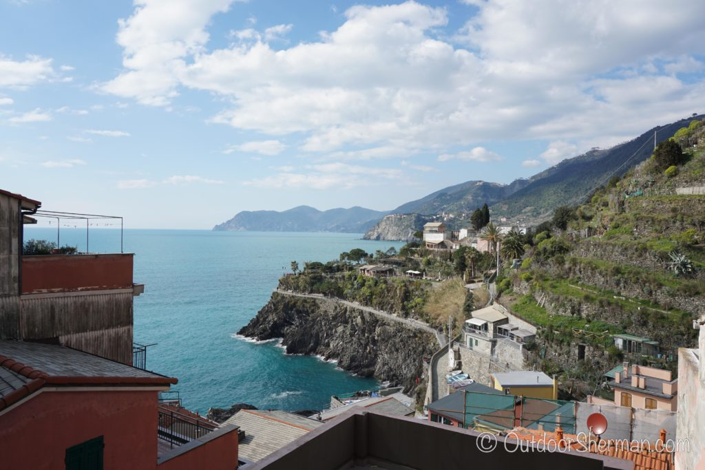 View of Manarola from our window