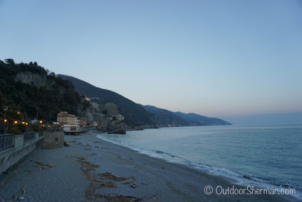 Monterosso Beach at night