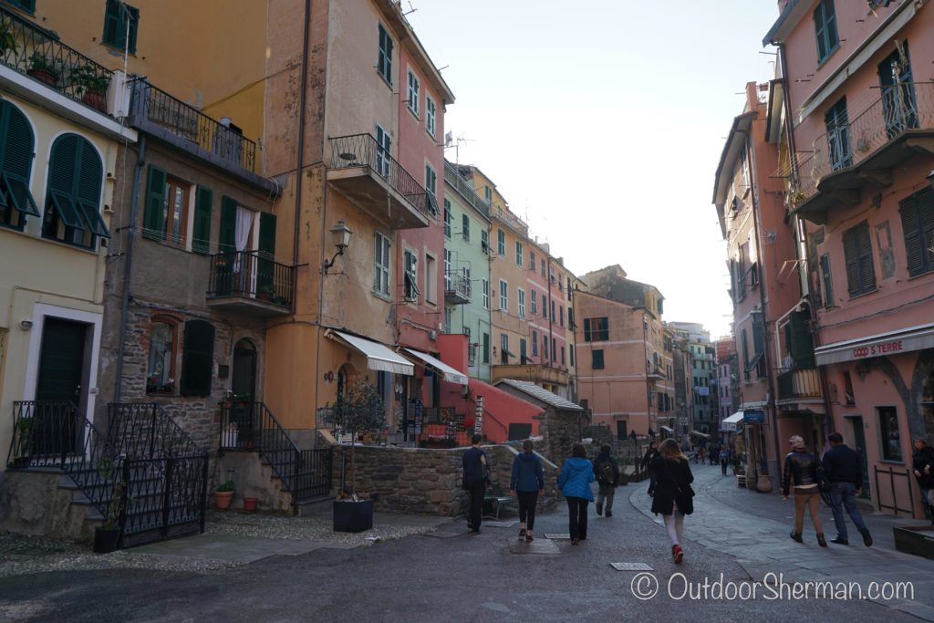 Walking down main street of Vernazza