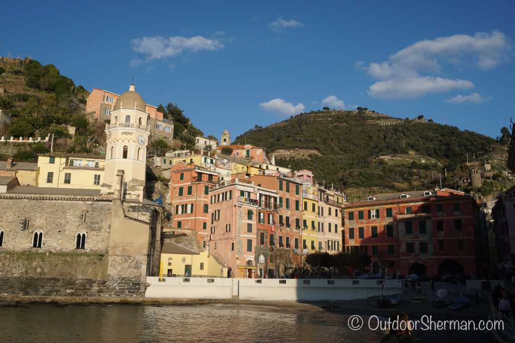 View of Vernazza port